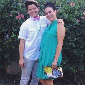 DVF Kelley green silk light weight dress 🌟